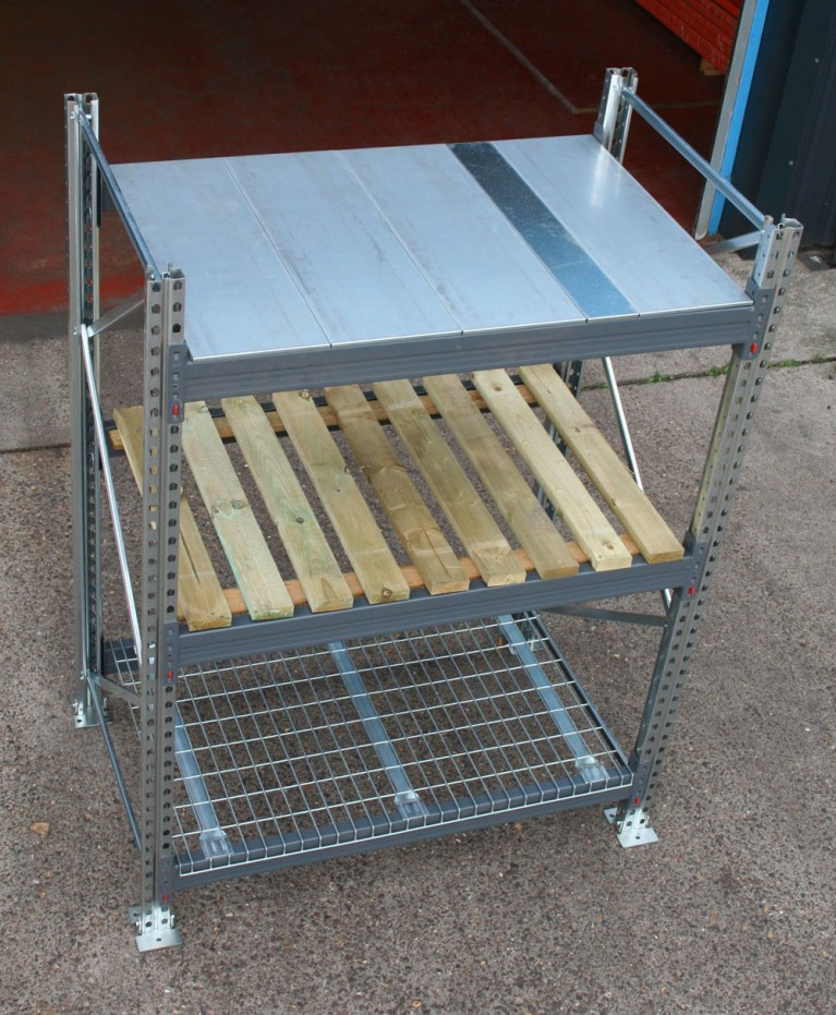 Pallet racking solid steel shelf panels